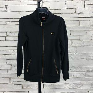 Puma Full Zip Lightweight Jacket Gold Zipper 1259